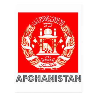 Emblema afgano tarjeta postal