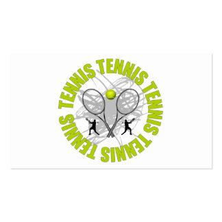 Emblema agradable del tenis tarjetas de visita