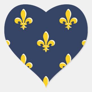 Emblema amarillo del explorador calcomanías de corazones
