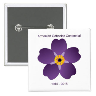 Emblema armenio del Centennial del genocidio Pin Cuadrada 5 Cm