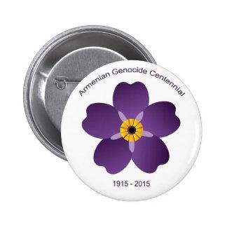 Emblema armenio del Centennial del genocidio Pin Redondo 5 Cm
