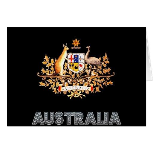 Emblema australiano tarjeta de felicitación