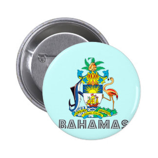 Emblema bahamés pin redondo de 2 pulgadas