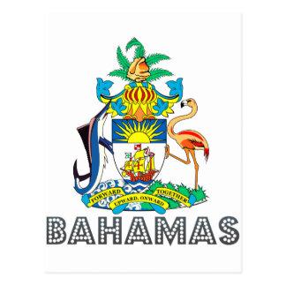 Emblema bahamés tarjeta postal