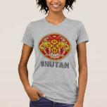 Emblema butanés t-shirts