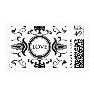 Emblema C del amor de Ceci Nueva York Timbre Postal