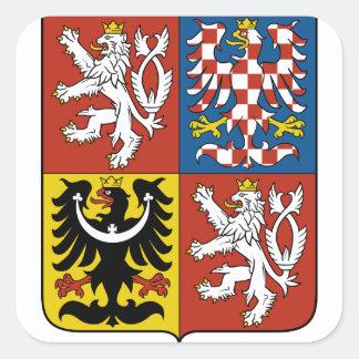 emblema checo pegatina cuadrada