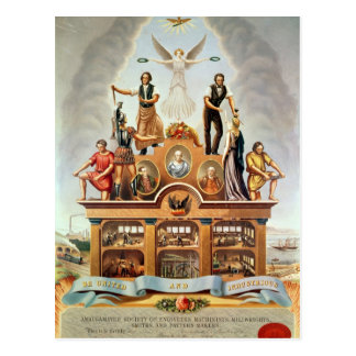 Emblema comercial de la sociedad unida postales