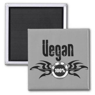 Emblema con alas Grunge del vegano Imán Cuadrado
