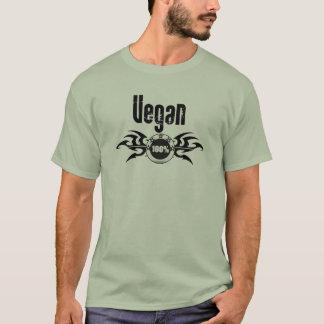 Emblema con alas Grunge del vegano Playera