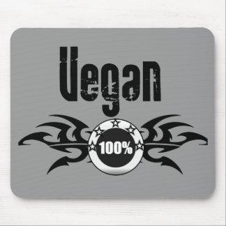 Emblema con alas Grunge del vegano Tapete De Ratones