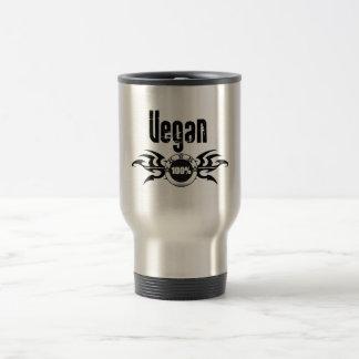 Emblema con alas Grunge del vegano Taza De Viaje