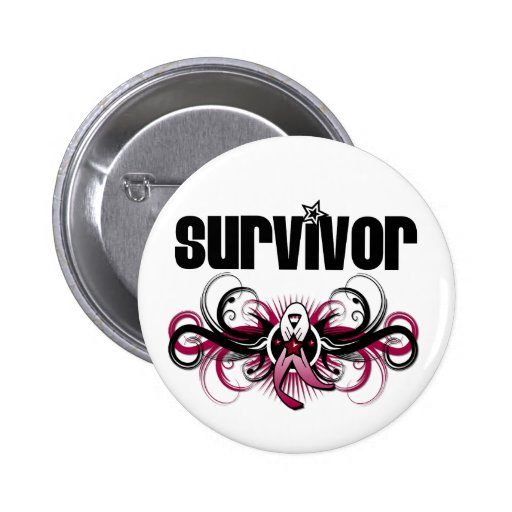 Emblema con alas Grunge principal del supervivient Pins