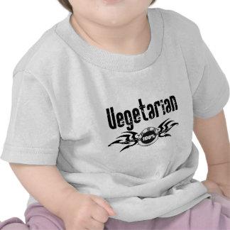 Emblema con alas Grunge vegetariano Camiseta
