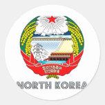 Emblema coreano etiqueta redonda