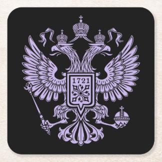 Emblema coronado Imerial de Eagle del ruso Posavasos Desechable Cuadrado