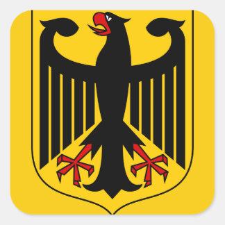 emblema de Alemania Calcomanía Cuadradas