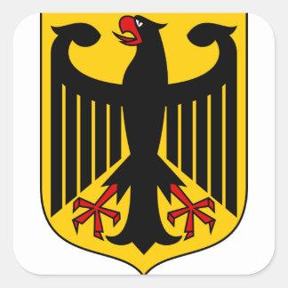 emblema de Alemania Colcomanias Cuadradas Personalizadas