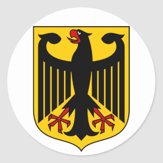 emblema de Alemania Etiqueta Redonda