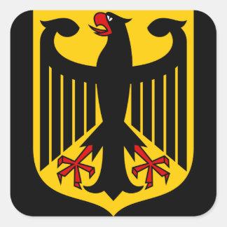 emblema de Alemania Calcomania Cuadradas
