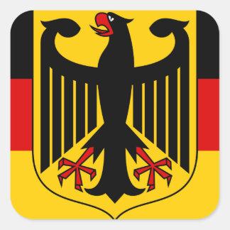 emblema de Alemania Pegatina Cuadrada