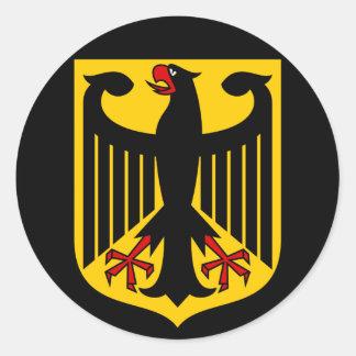 emblema de Alemania Pegatina Redonda