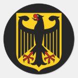 emblema de Alemania Pegatinas Redondas