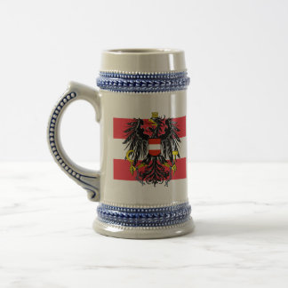 emblema de Austria Jarra De Cerveza