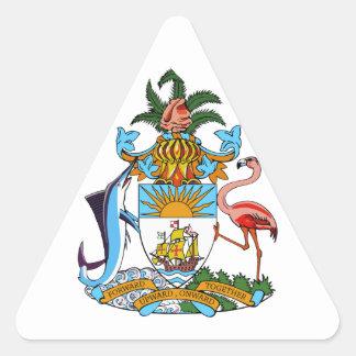 emblema de Bahamas Calcomanía De Triangulo Personalizadas