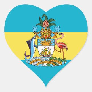emblema de Bahamas Colcomanias De Corazon