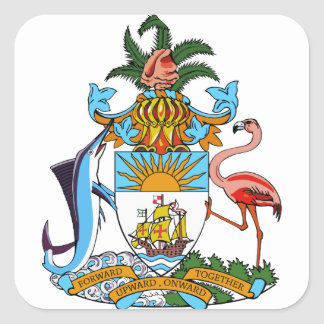 emblema de Bahamas Pegatinas