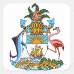 emblema de Bahamas Pegatina Cuadrada