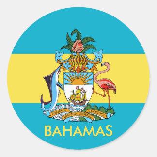 emblema de Bahamas Pegatina Redonda