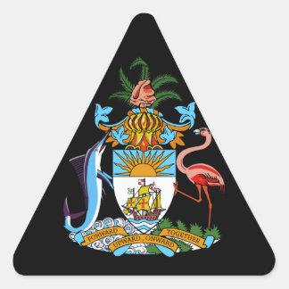 emblema de Bahamas Pegatina Triangular