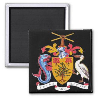 emblema de Barbados Imán Cuadrado
