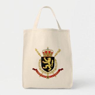 emblema de Bélgica Bolsa Tela Para La Compra