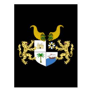 emblema de Benin Tarjeta Postal