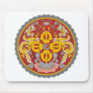 emblema de Bhután Alfombrillas De Ratones