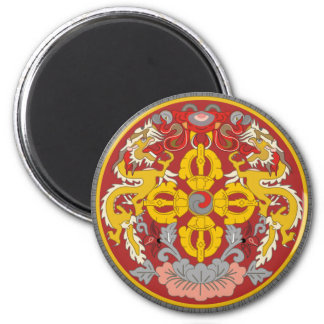 emblema de Bhután Imán Redondo 5 Cm