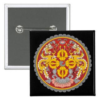 emblema de Bhután Pin Cuadrado