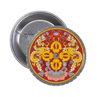 emblema de Bhután Pin Redondo De 2 Pulgadas