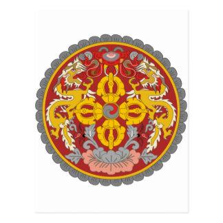 emblema de Bhután Postales