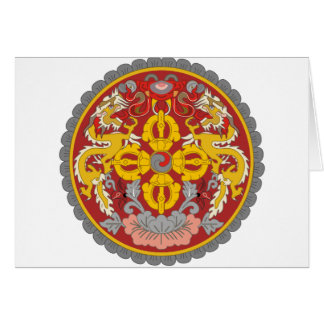 emblema de Bhután Tarjetón