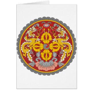 emblema de Bhután Tarjeta De Felicitación