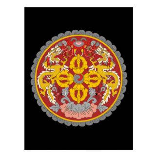 emblema de Bhután Tarjeta Postal