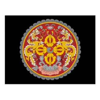 emblema de Bhután Tarjetas Postales