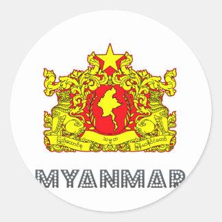 Emblema de Birmania Pegatina Redonda