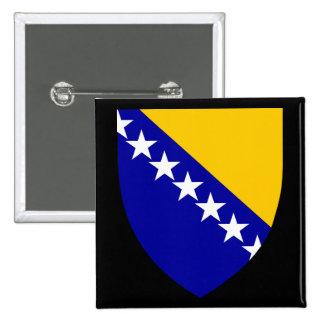 emblema de Bosnia Pin Cuadrado