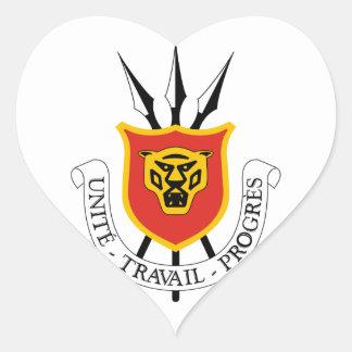 emblema de Burundi Pegatina En Forma De Corazón