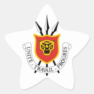 emblema de Burundi Pegatina En Forma De Estrella